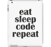 eat sleep code iPad Case/Skin