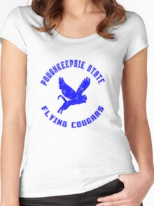 POUGHKEEPSIE STATE FLYING COUGARS Women's Fitted Scoop T-Shirt