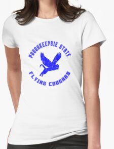 POUGHKEEPSIE STATE FLYING COUGARS Womens Fitted T-Shirt