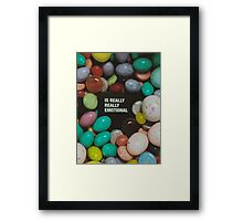 Is Really Really Emotional Framed Print