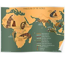 The Pangolin Map of the World Poster