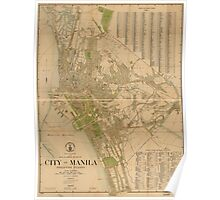 City of Manila Philippines Map (1920) Poster