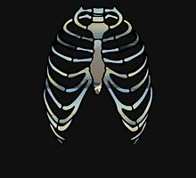 Sea on a rib cage. Womens Fitted T-Shirt
