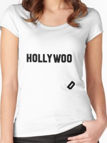 Good Morning Hollywoo! Women's Fitted Scoop T-Shirt