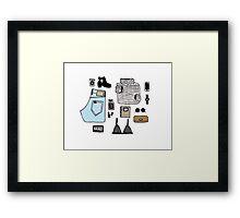 Fashion Essentials Design Framed Print