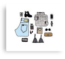 Fashion Essentials Design Canvas Print