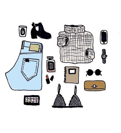 Fashion Essentials Design Sticker