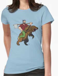 Absurdly Rugged Womens Fitted T-Shirt