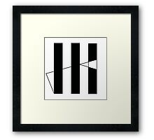 HK 3-Bars Framed Print