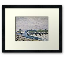 Alfred Sisley - Molesey Weir, Hampton Court   Impressionism  Landscape  Framed Print