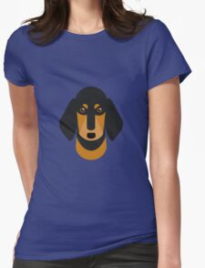 Sausage Dog Womens Fitted T-Shirt