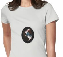 White rabbit Womens Fitted T-Shirt