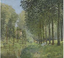 Alfred Sisley - Rest along the Stream. Edge of the Wood  Impressionism  Landscape  Photographic Print