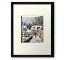 Alfred Sisley - Snow at Louveciennes French Impressionism Landscape Framed Print