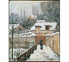 Alfred Sisley - Snow at Louveciennes French Impressionism Landscape Photographic Print