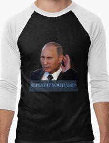 Putin don't hear you back back Men's Baseball ¾ T-Shirt