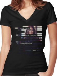 Root - Person of Interes - Quote Women's Fitted V-Neck T-Shirt