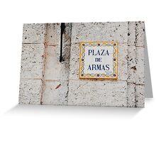 Plaza de Armas (Havana) Greeting Card