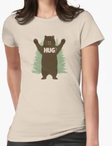 Bear Hug (Reworked) Womens Fitted T-Shirt