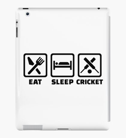 Eat sleep cricket iPad Case/Skin