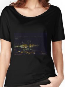 landscape lake at night Women's Relaxed Fit T-Shirt