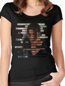 Shaw - Person of interest - Quote Women's Fitted Scoop T-Shirt