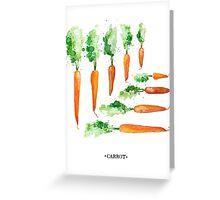 Carrot Matrix Greeting Card