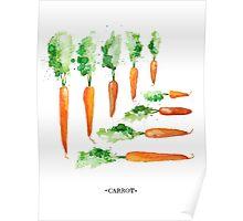 Carrot Matrix Poster