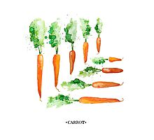 Carrot Matrix Photographic Print