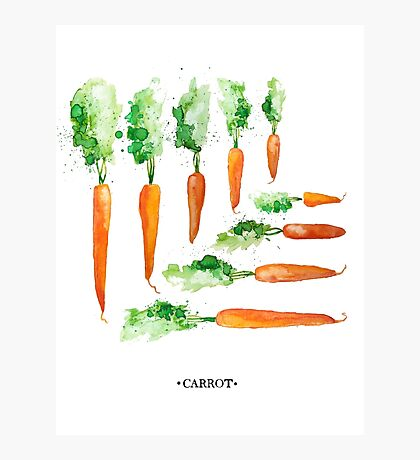 Carrot Matrix Photographic Print