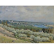 Alfred Sisley - The Terrace at Saint-Germain, Spring 1875 French Impressionism Landscape Photographic Print