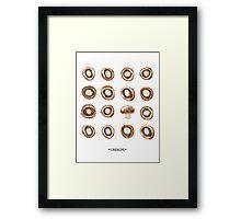 Mushroom Matrix Framed Print
