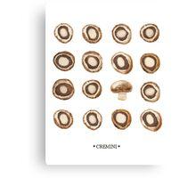 Mushroom Matrix Canvas Print