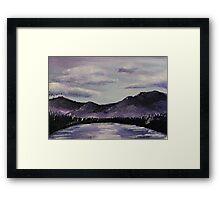 Purple Clouds Framed Print