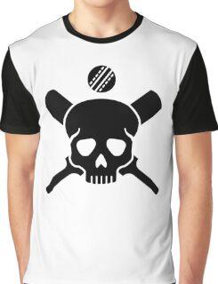 Cricket skull Graphic T-Shirt