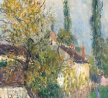 Alfred Sisley -A path at Les Sablons  French Impressionism Landscape Sticker