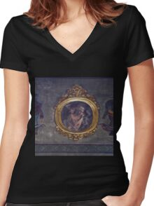 Ghost in the mirror Women's Fitted V-Neck T-Shirt