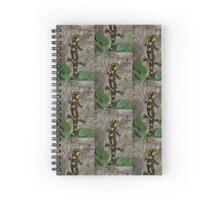 Fire Salamander on Rock  Spiral Notebook