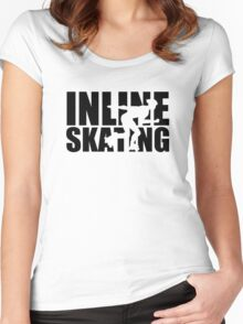 Inline skating Women's Fitted Scoop T-Shirt