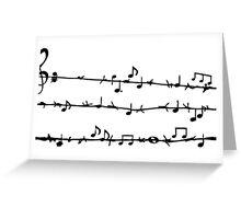 Barbwire Stave Greeting Card