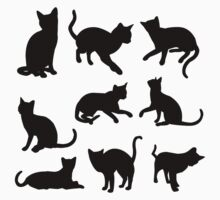 Black Cats Kids Tee