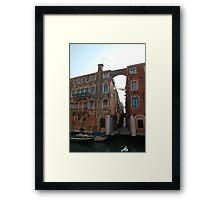 Arched Backstreet, Venice Framed Print