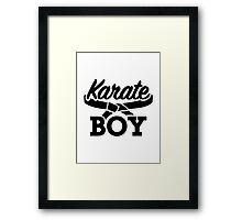 Karate boy Framed Print