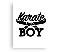 Karate boy Canvas Print
