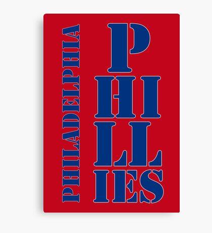 Philadelphia Phillies typography Canvas Print