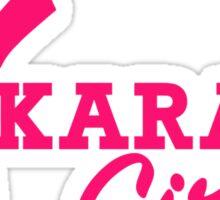 Karate girl Sticker