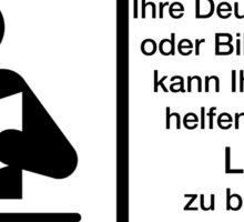 Warnung Lesen Deutsch Deutschlehrerin Bibliothekarin Sticker