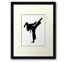 Karate girl woman Framed Print