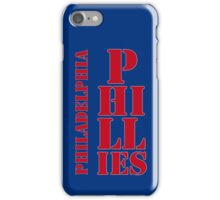 Philadelphia Phillies typography blue iPhone Case/Skin