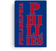 Philadelphia Phillies typography blue Canvas Print